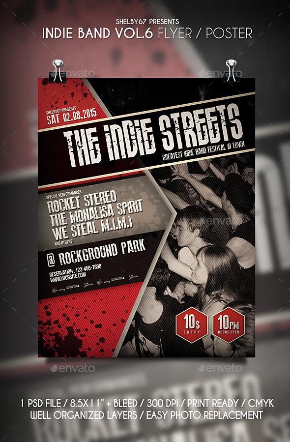 Band Flyer Graphics, Designs  Templates from GraphicRiver (Page 3)