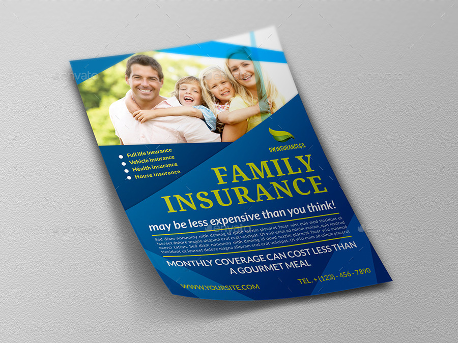 Insurance Flyer Template by OWPictures GraphicRiver - insurance flyer templates