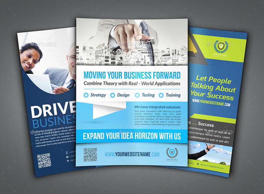Corporate Flyer Bundle Template Vo4 by OWPictures GraphicRiver - corporate flyer template