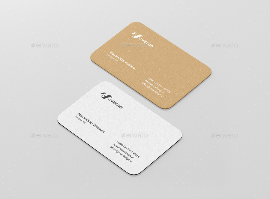 Mockup T Shirt Side Business Card Mockup Round Corners By Visconbiz | Graphicriver
