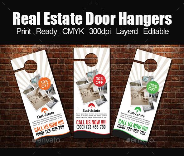 Real Estate Door Hanger Template by designhub719 GraphicRiver - door hanger template