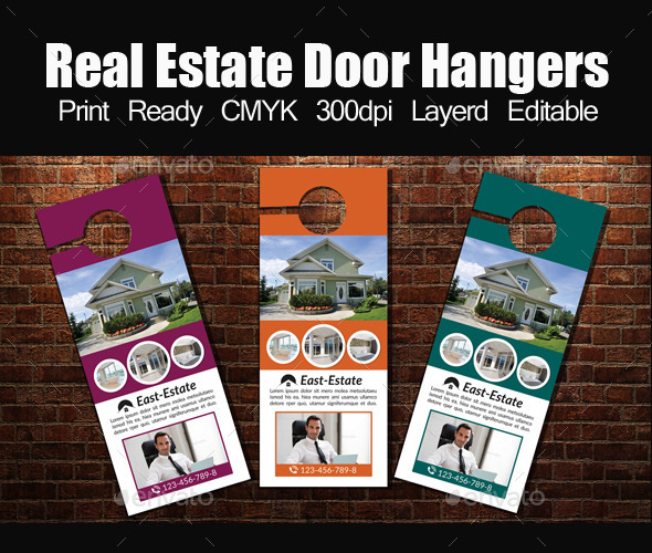 Real Estate Door Hanger Template by designhub719 GraphicRiver
