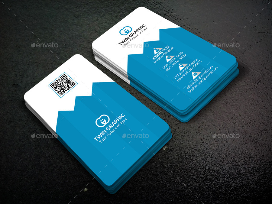 Pyramid Vertical Business Card Design by TwinGraphic GraphicRiver - vertical business card