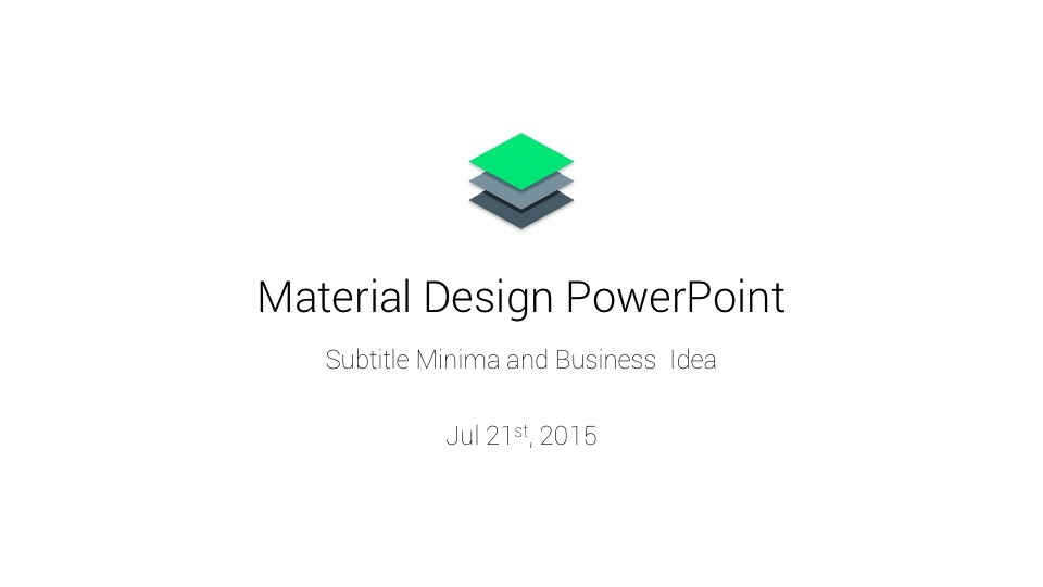 Material PowerPoint Presentation Template by ercn1903 GraphicRiver - Google Presentations Templates