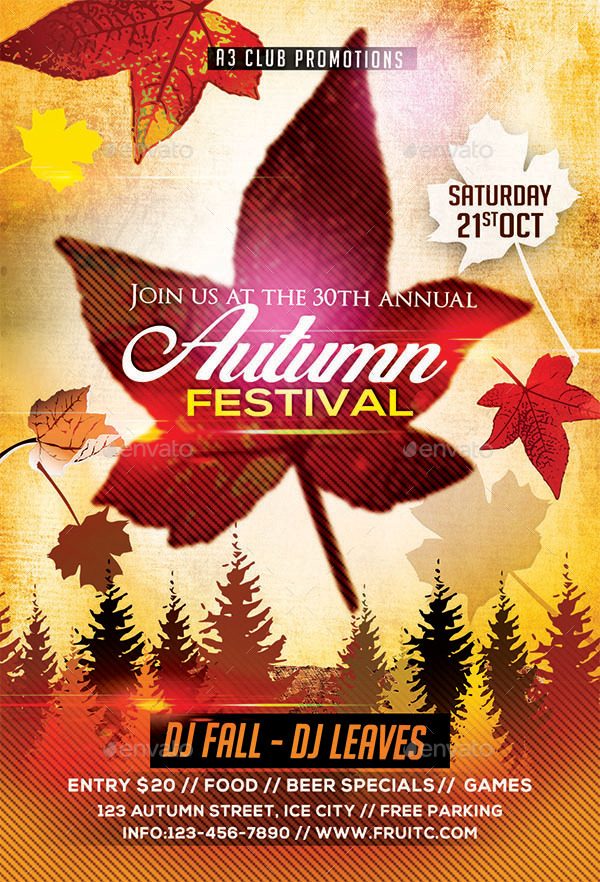 Autumn/ Fall Flyer + Facebook Cover by Arrow3000 GraphicRiver