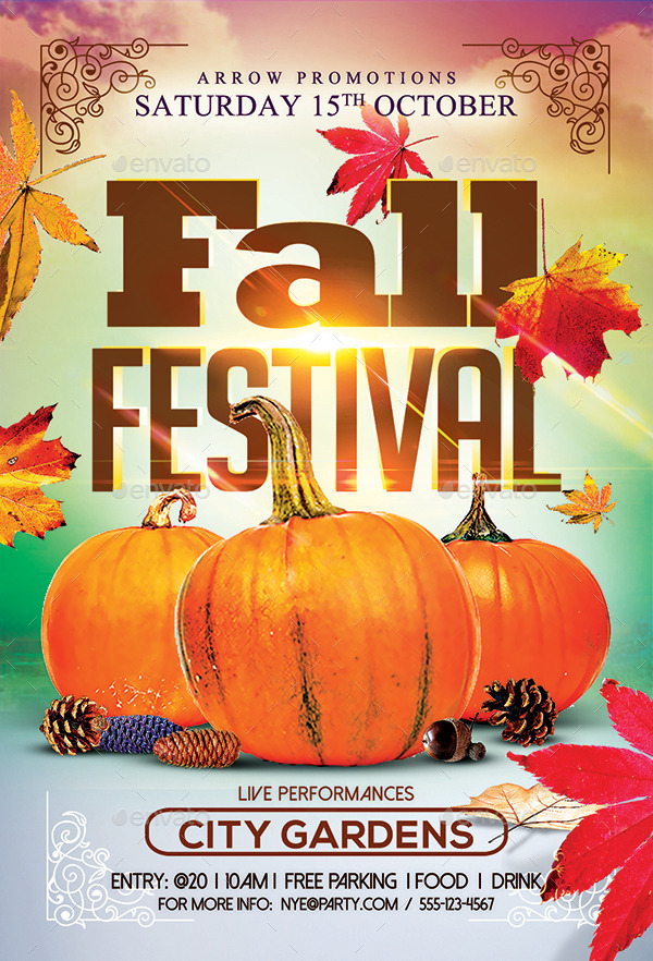 Autumn/ Fall Festival Flyer + Facebook Cover by Arrow3000 GraphicRiver