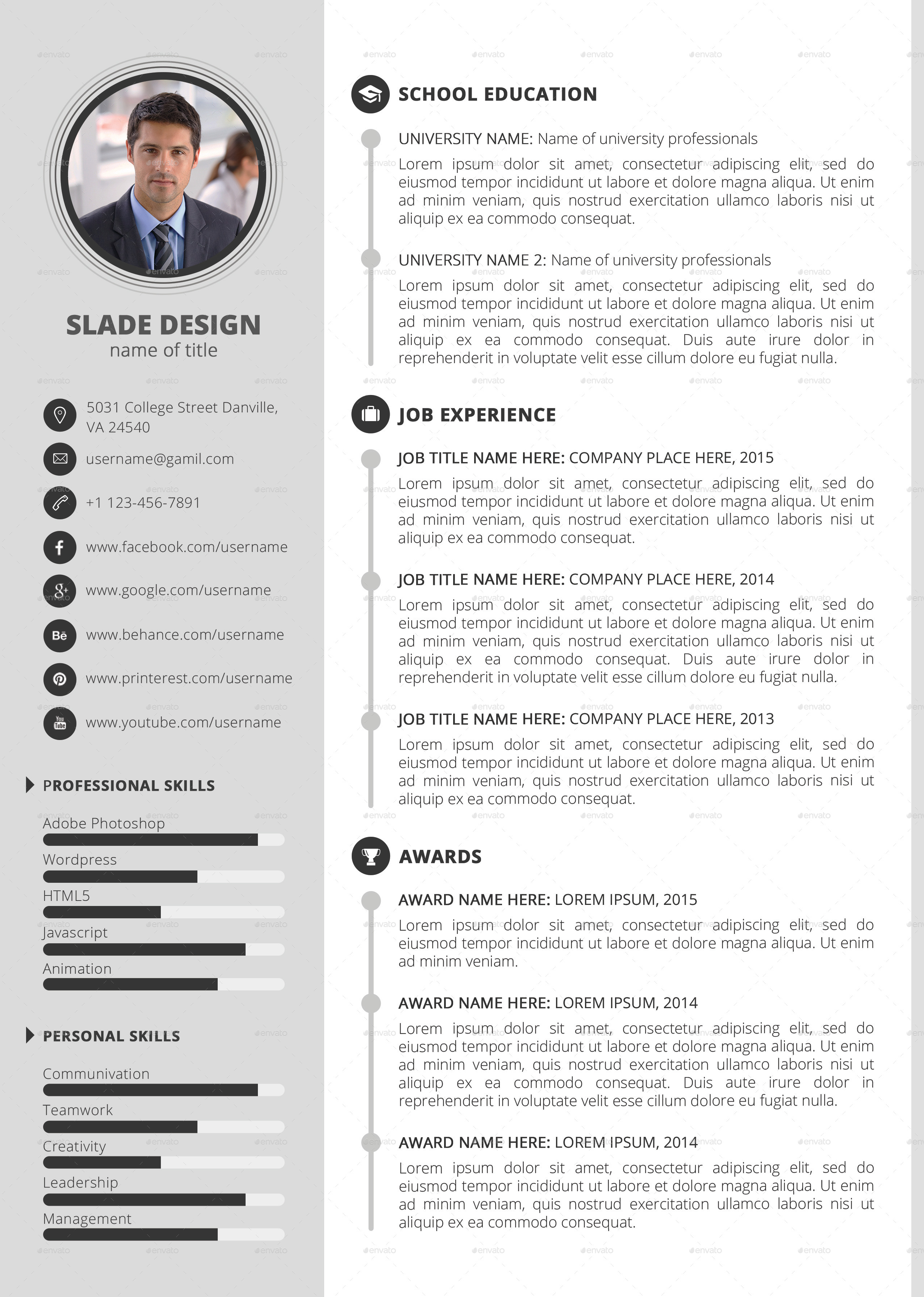 make a professional resume template