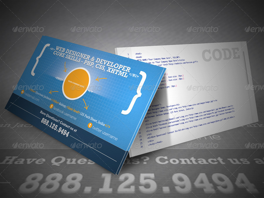 Creative Web Designer/Developer Business Card by ShermanJackson
