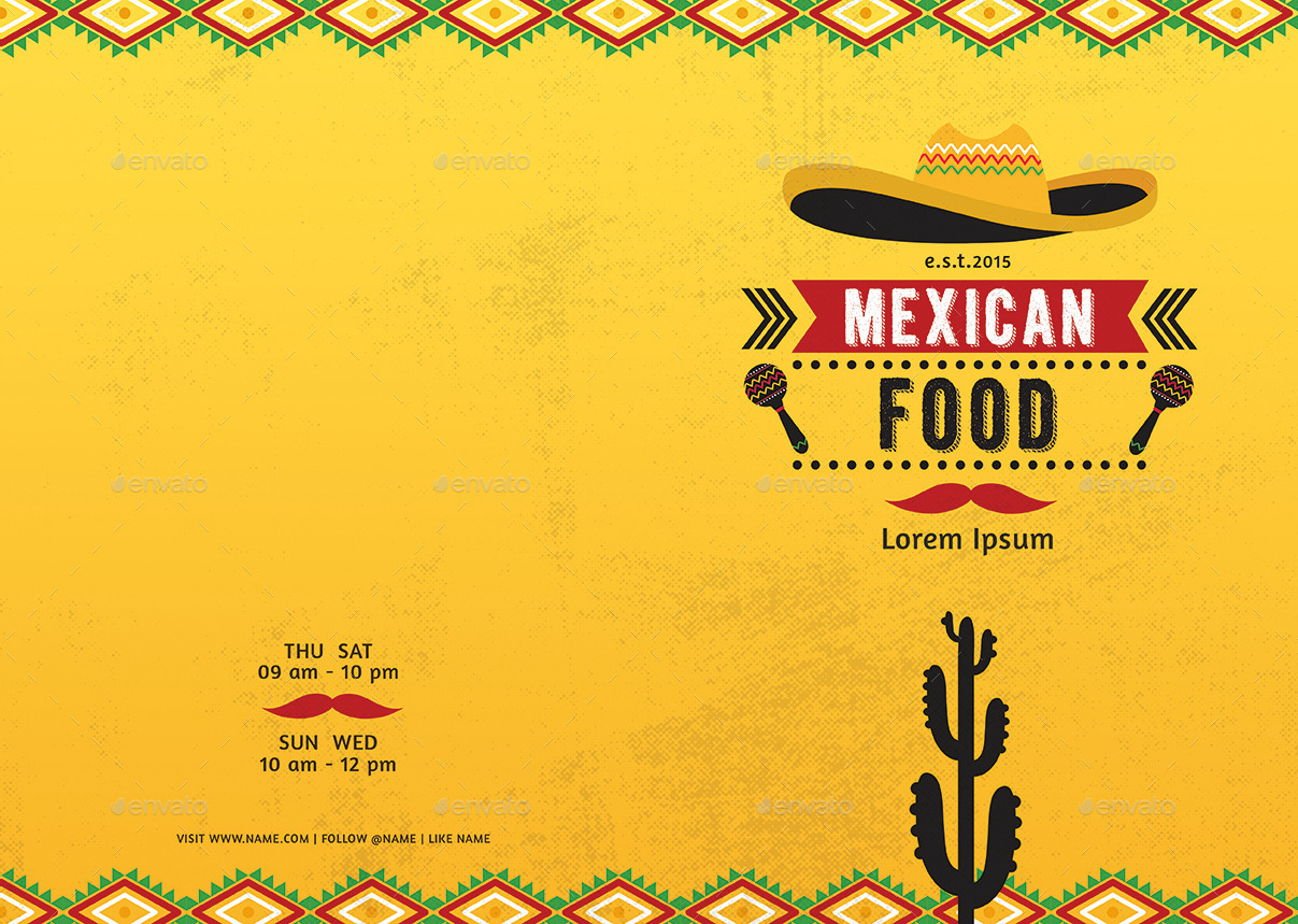 Mexican Restaurant Menu Template Costumepartyrun