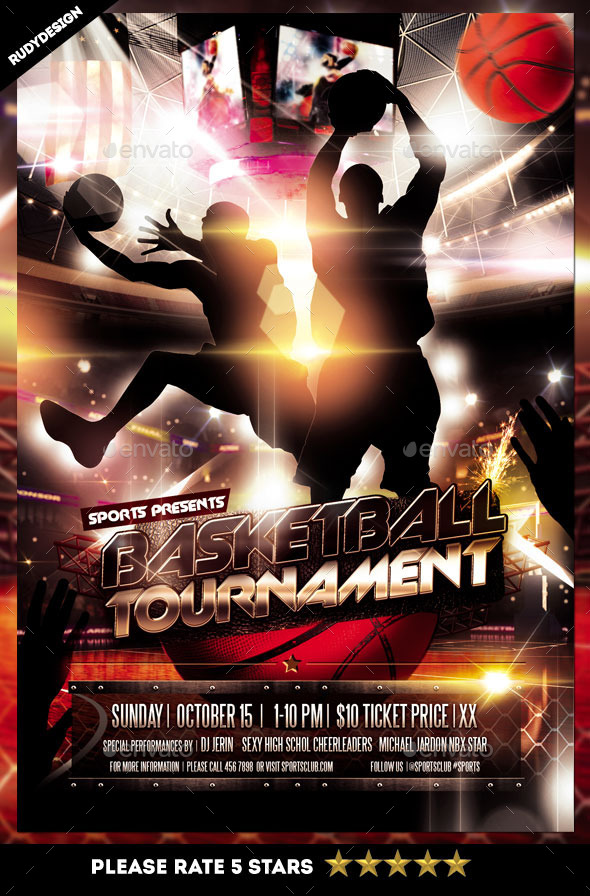 Basketball Tournament Flyer by rudydesign GraphicRiver - basketball flyer example