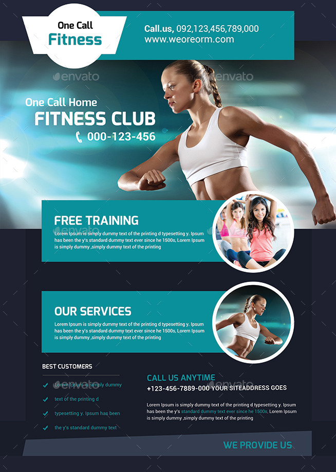 Fitness Flyer - Gym Flyer Templates by afjamaal GraphicRiver