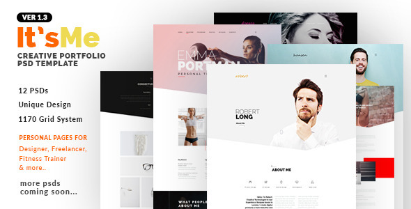 Itu0027sMe - Creative Portfolio PSD Template by webduck ThemeForest - fitness brochure