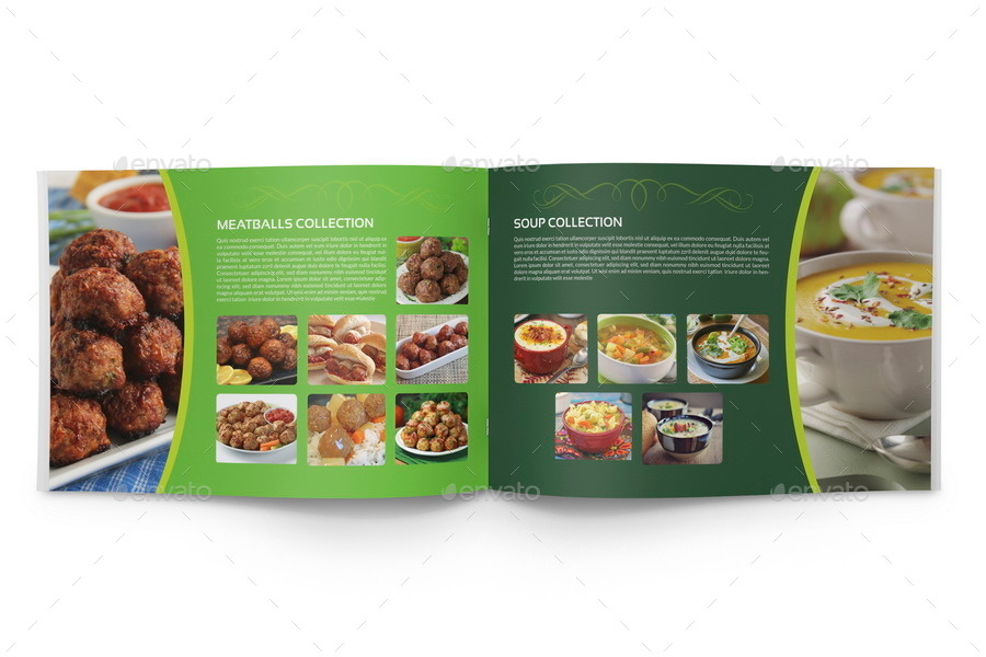 Food Products Catalog Brochure Template - 24 Pages by OWPictures - Product Brochure Template