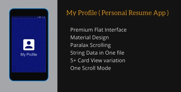 My Profile ( Personal Resume App ) by dream_space CodeCanyon - my personal resume