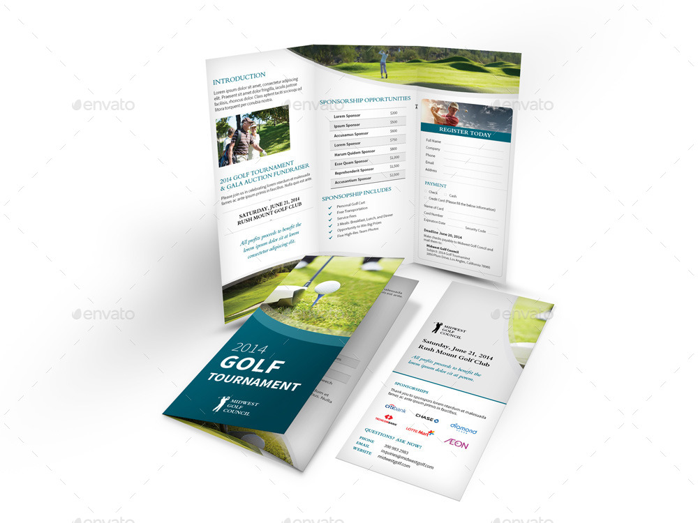 Golf Tournament Trifold Brochure by Mike_pantone GraphicRiver