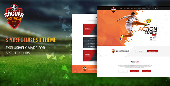Soccer Club Multipurpose PSD Template by 0effortthemes ThemeForest
