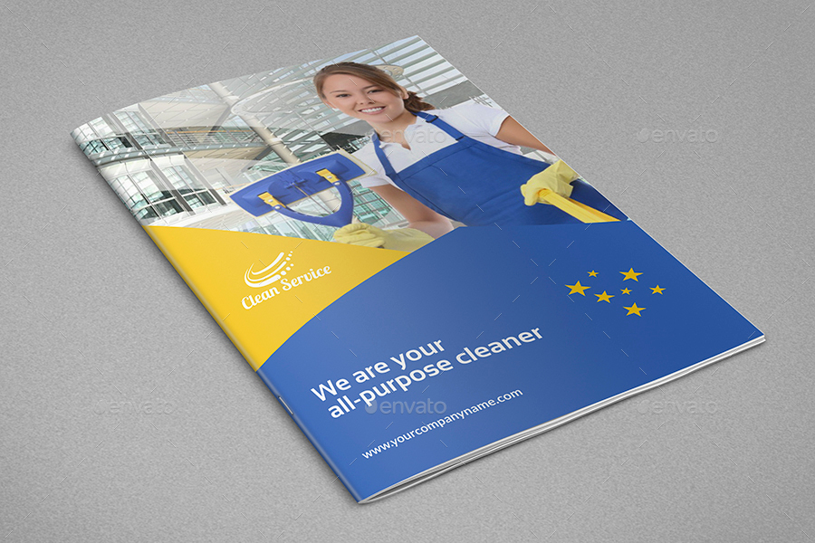 Cleaning Services Brochure Template - 16 Pages by OWPictures - services brochure