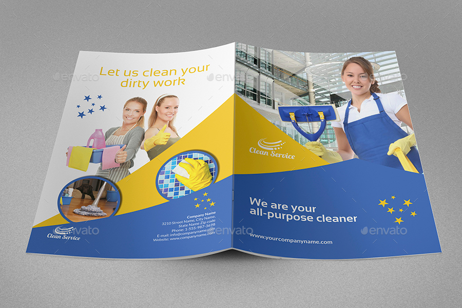 Cleaning Services Brochure Template - 16 Pages by OWPictures