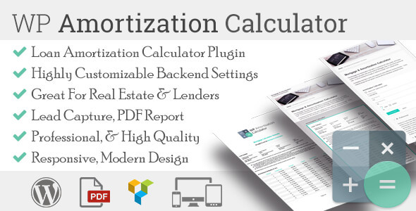 WP Amortization Calculator by sh-themes CodeCanyon