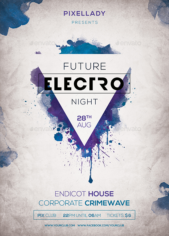 Future Electro Flyer by pixel_lady GraphicRiver - electro flyer