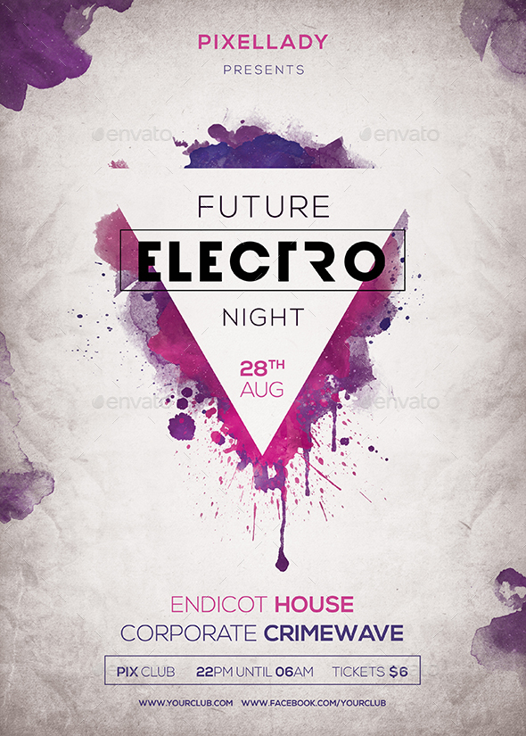 Future Electro Flyer by pixel_lady GraphicRiver