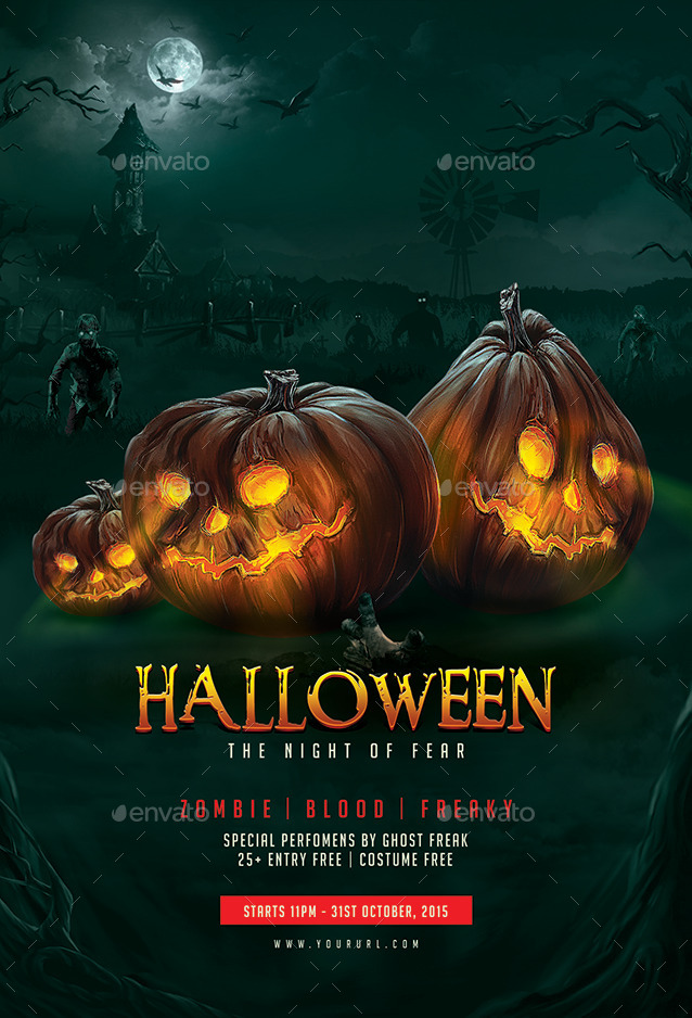 Halloween Flyer Template by doto GraphicRiver - halloween flyer template