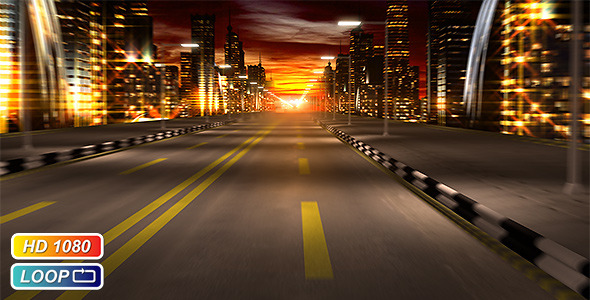 Animation Wallpaper Full Download Night City Road By Kurbatov Videohive