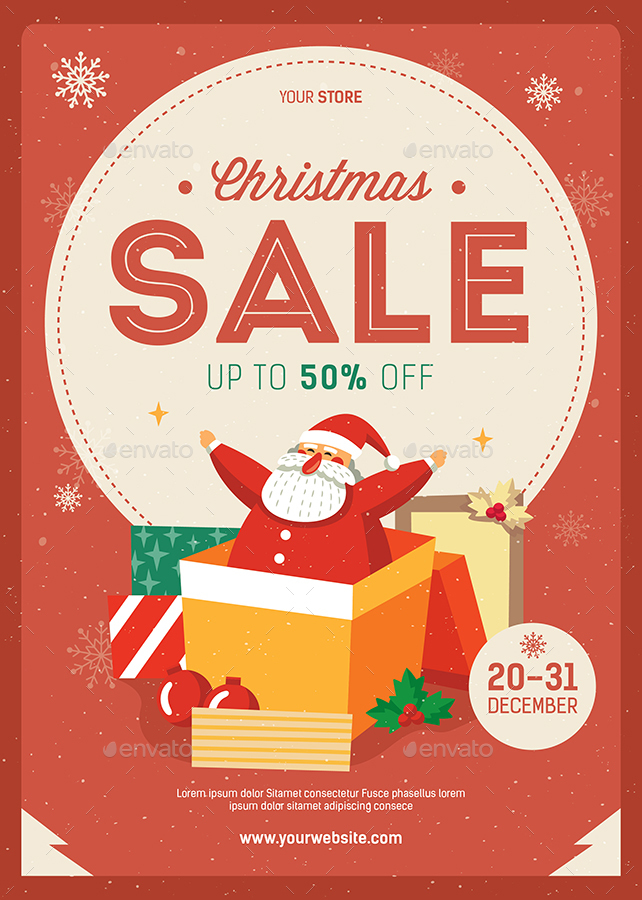 christmas sale flyer template free - Solidgraphikworks - discount flyer template