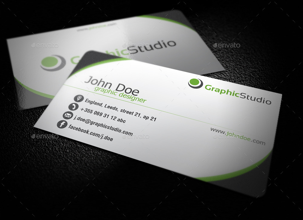 Simple Business Card by BlinVarfi GraphicRiver - simple business