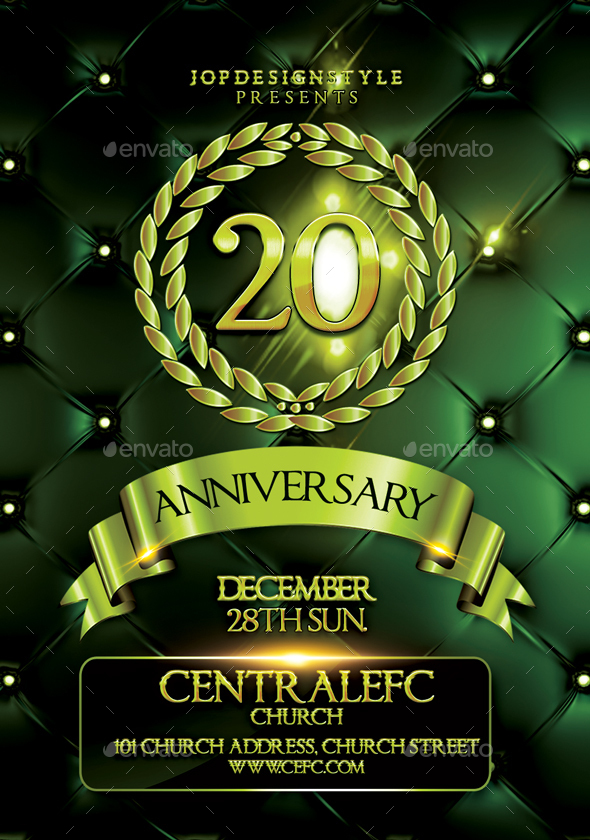 Church Anniversary Flyer/Poster by JOPdesignstyle GraphicRiver