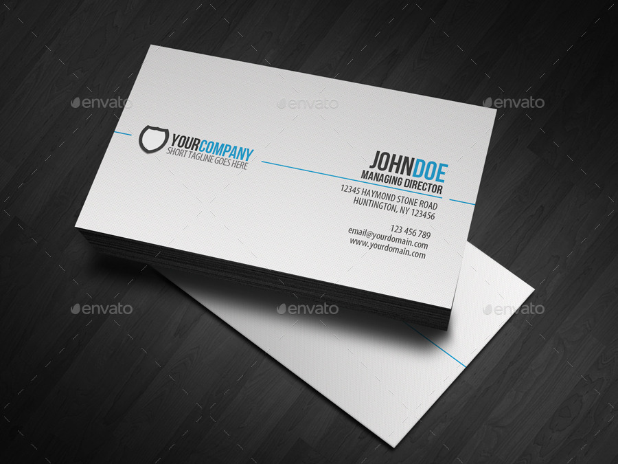 Simple Professional Business Card by glenngoh GraphicRiver
