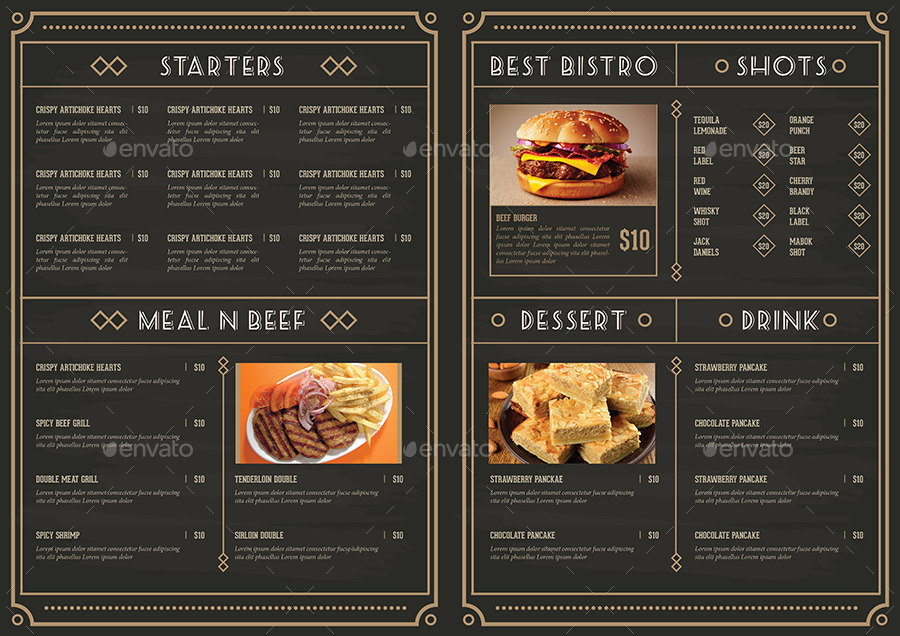 Elegant Restaurant Package by Guuver GraphicRiver