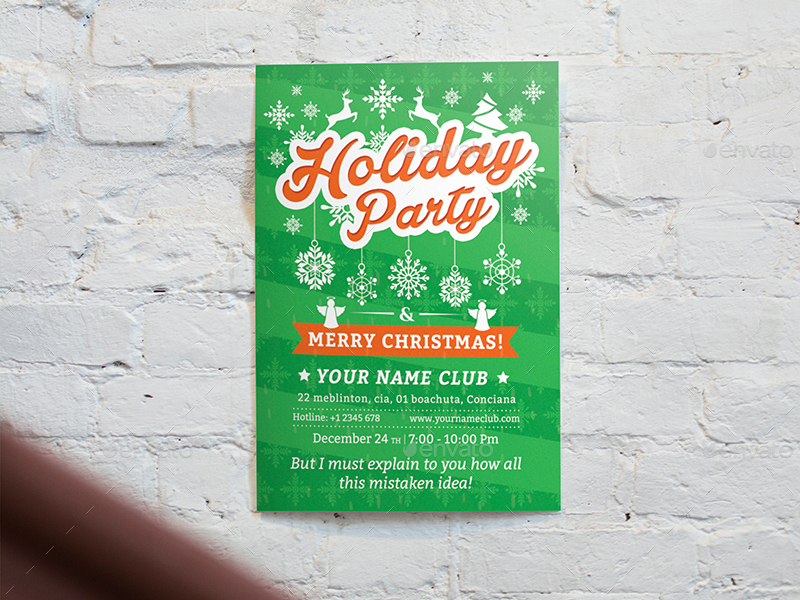 Holiday Party Flyer Template 02 by wutip2 GraphicRiver - holiday party flyer template