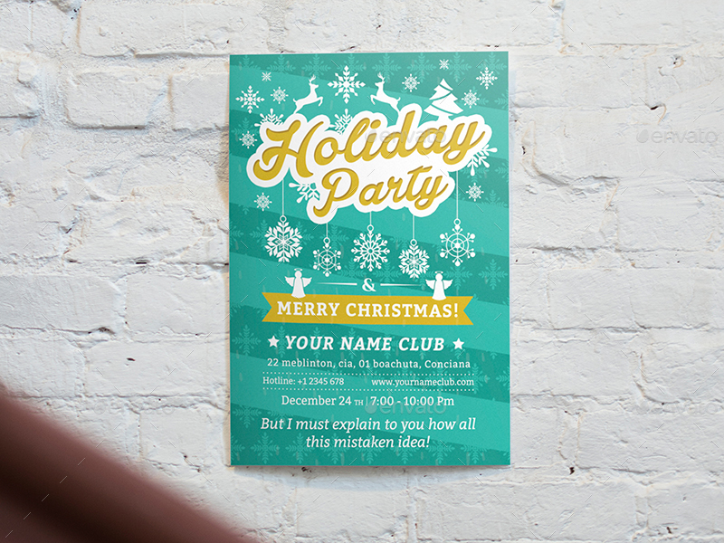 Holiday Party Flyer Template 02 by wutip2 GraphicRiver