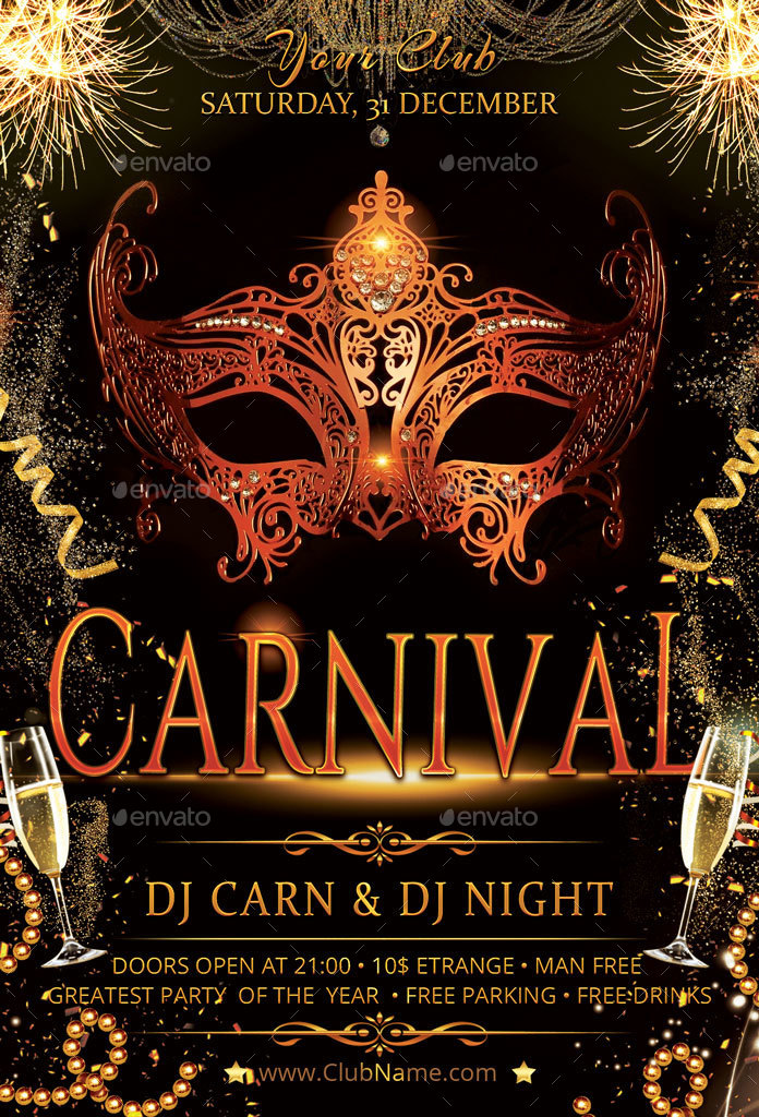 Cool Graffiti Wallpapers Hd Carnival Masquerade Party Flyer By Oloreon Graphicriver