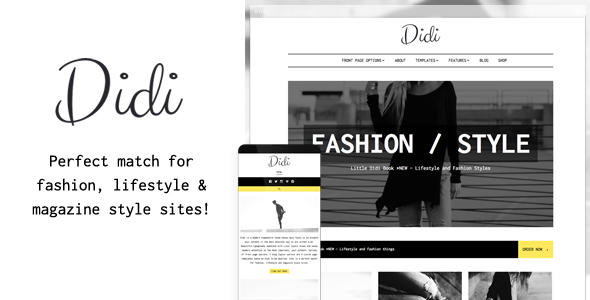 Didi - Fashion Blog WordPress Theme by AnarielDesign ThemeForest - fashion blogger templates