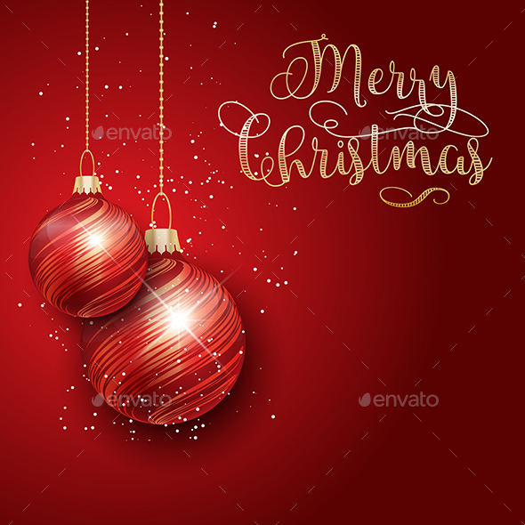 Merry Christmas background by kjpargeter GraphicRiver - christmas background image