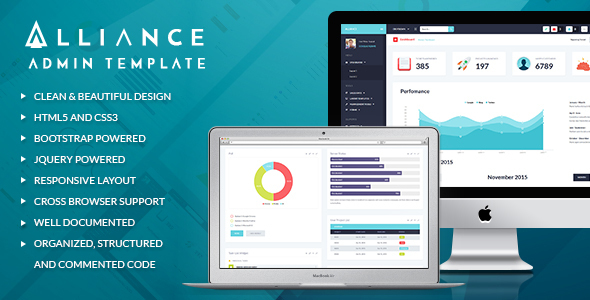 Alliance - Responsive Bootstrap Admin Template by ThemeREX ThemeForest - bootstrap admin template