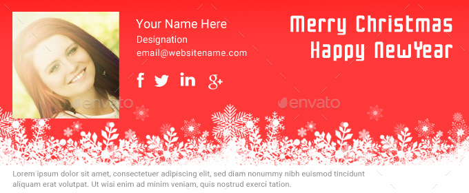 Christmas Email Signature PSD by dotgains GraphicRiver - merry christmas email banner