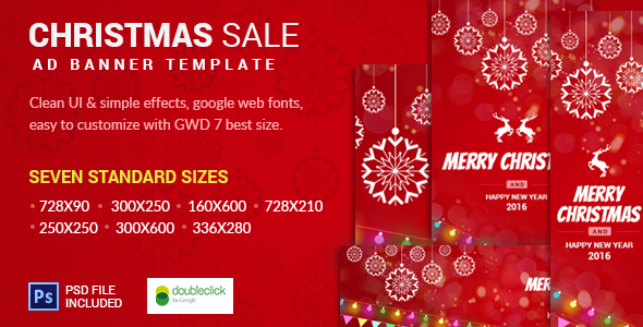 Christmas Sale AD Banner Template by 0effortthemes CodeCanyon