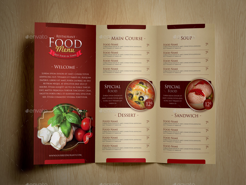 Elegant Food Menu Set by MONOGRPH GraphicRiver