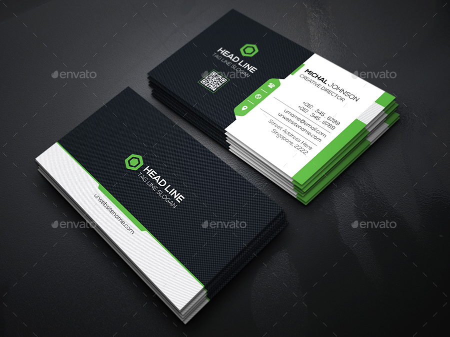 Mockup T Shirt Side Head Line Business Cards By Generousart | Graphicriver