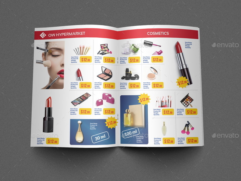 Supermarket Products Catalog Brochure Template Vol2 by OWPictures - product brochure template