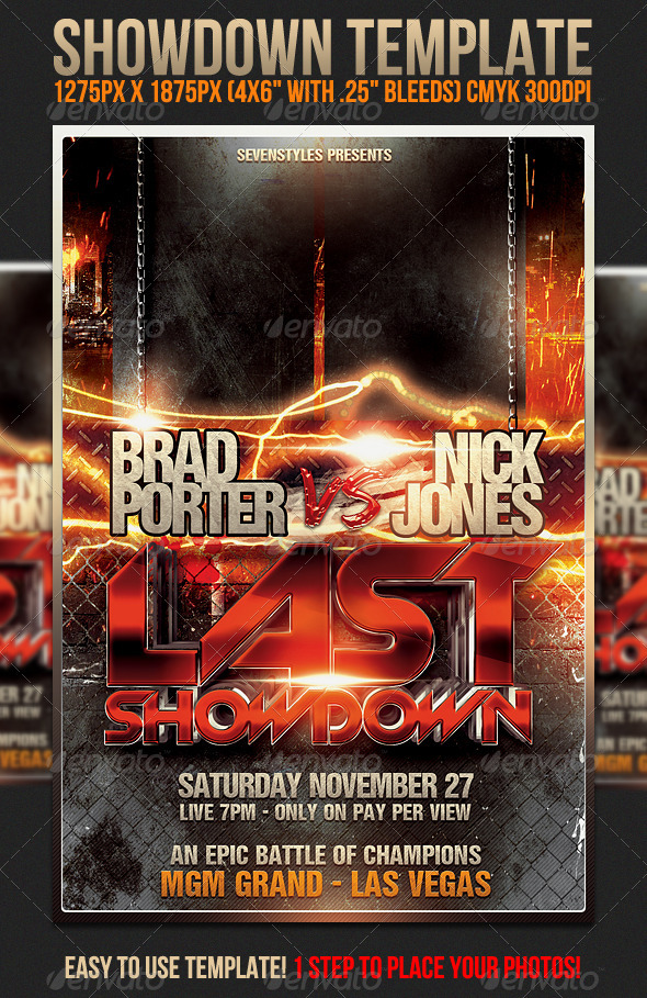 Showdown Flyer Template by sevenstyles GraphicRiver - free sports flyer templates