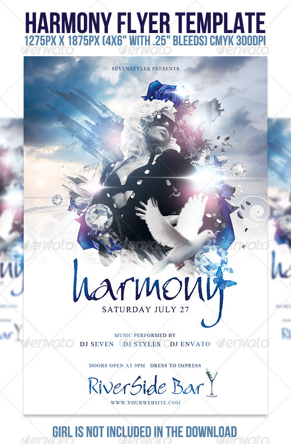 Harmony Flyer Template by sevenstyles GraphicRiver