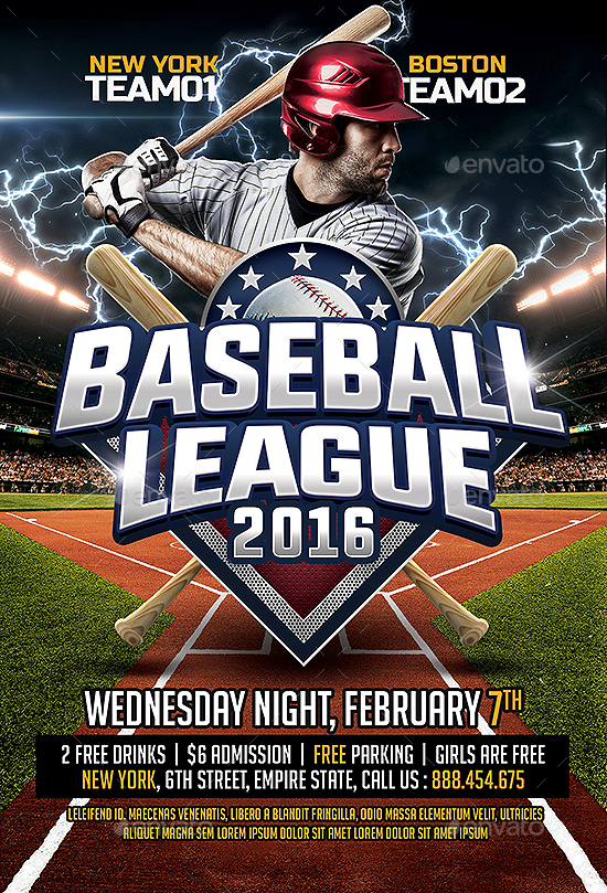 baseball flyers - Maggilocustdesign