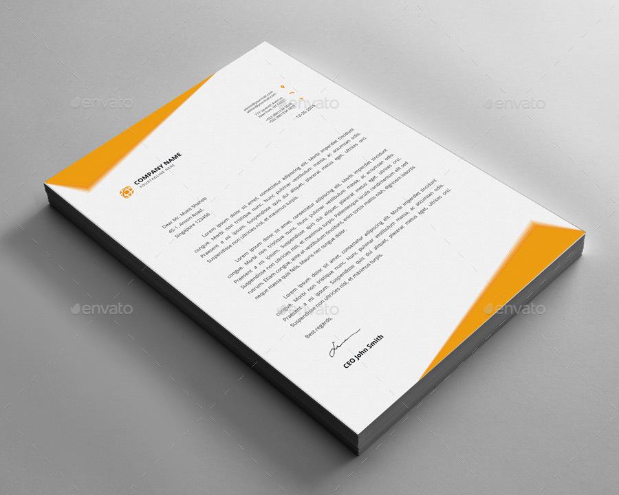 Letterhead Design by Elite_Designer GraphicRiver - psd letterhead template