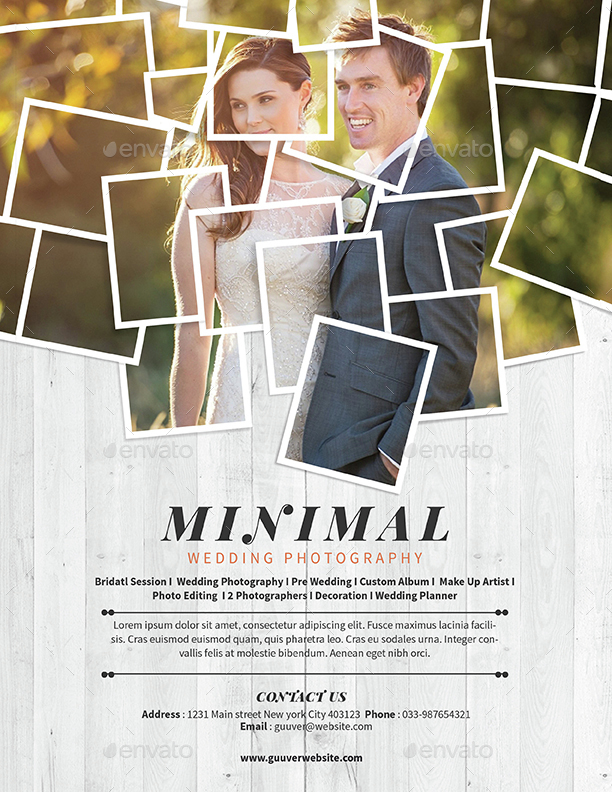 Minimal Wedding Photography Flyer by Guuver GraphicRiver - Photography Flyer