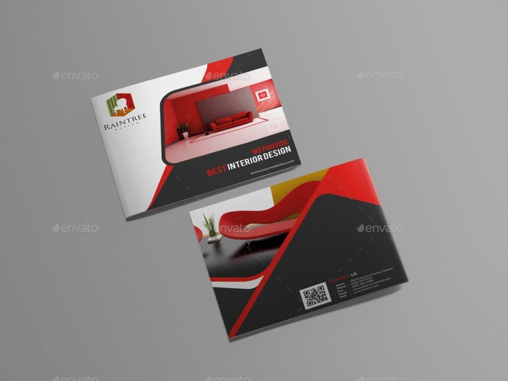 Interior Design Brochure Template by themexone GraphicRiver - interior design brochure template