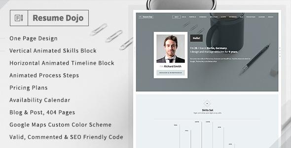 ResumeDojo - Resume  Portfolio HTML Premium Theme by Themes-Dojo